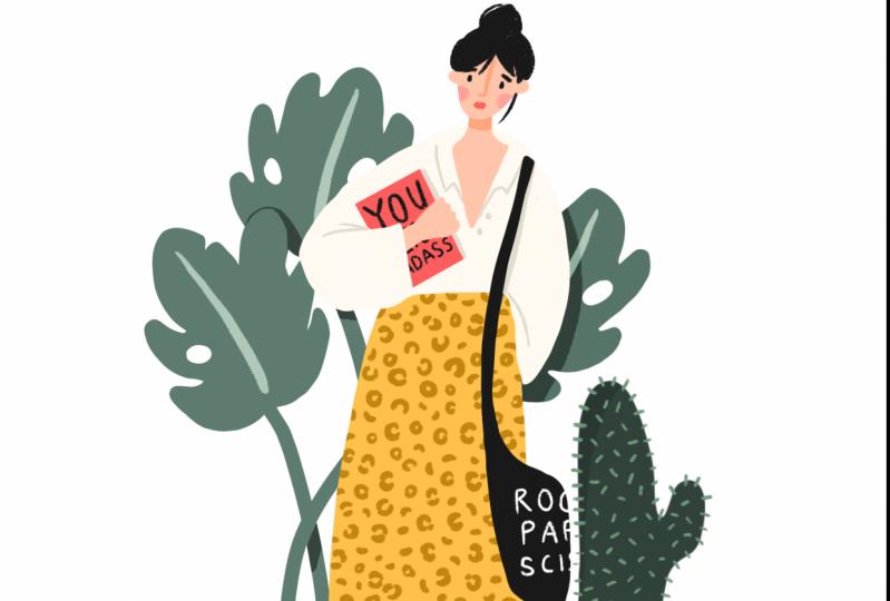 Books, leopard print & a cactus!