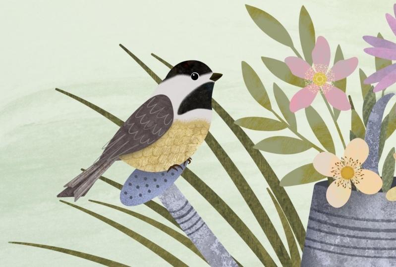 Textured birds