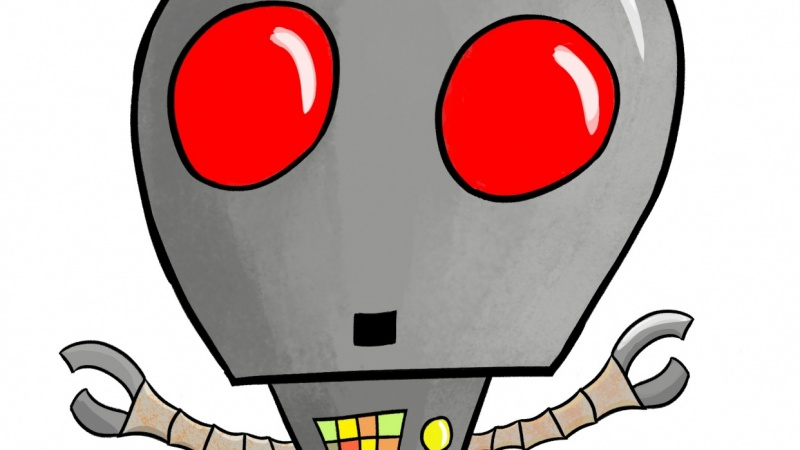Red eyed robot