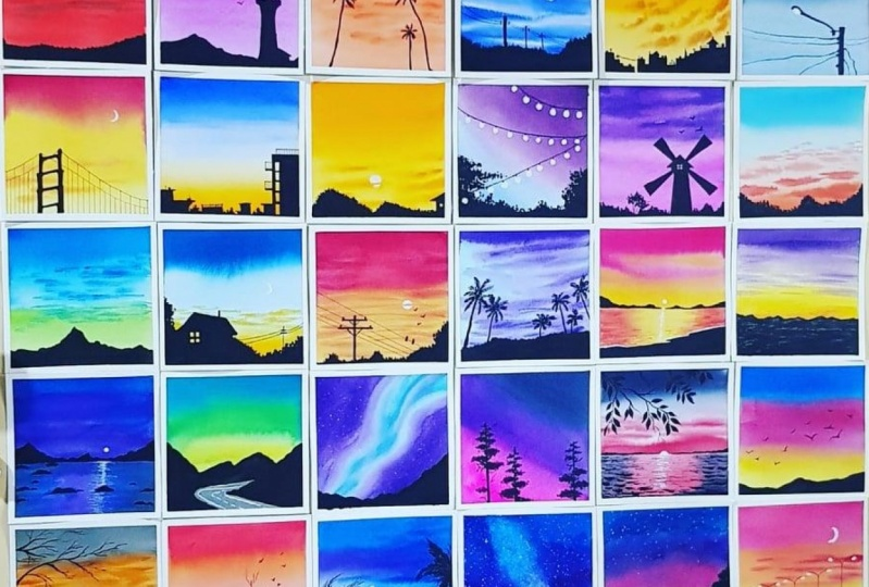 30 Day Watercolor Challenge:  Bold and Beautiful Skies