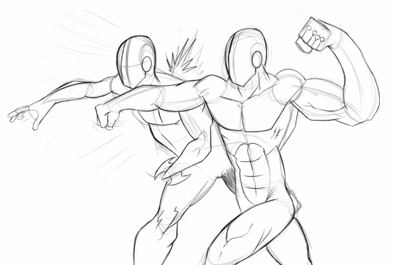 Iconic Fight pose