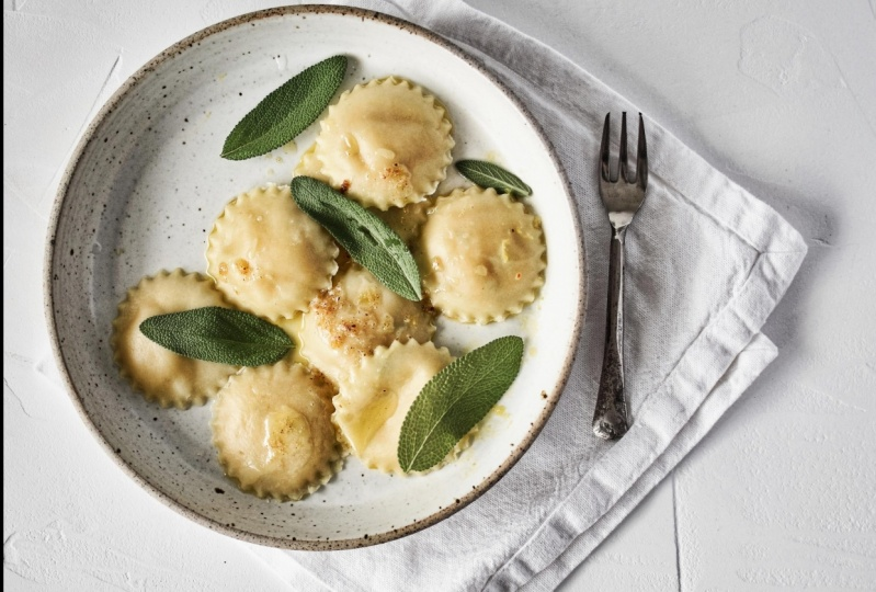Pumpkin and Sage Ravioli with Burnt Butter