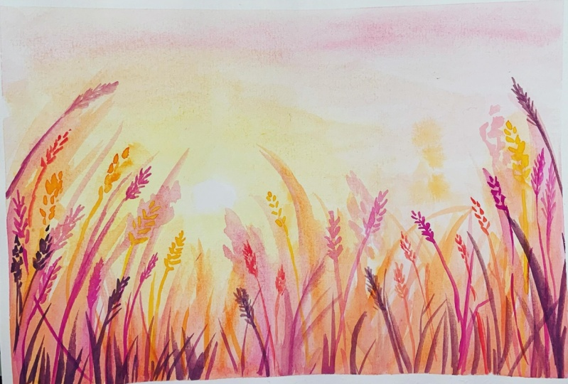 Watercolour Sunrise