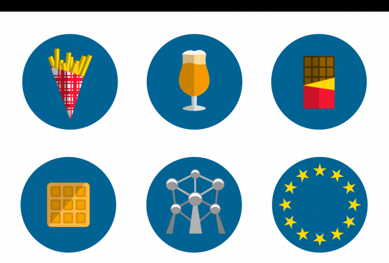 Brussels Vector Icons