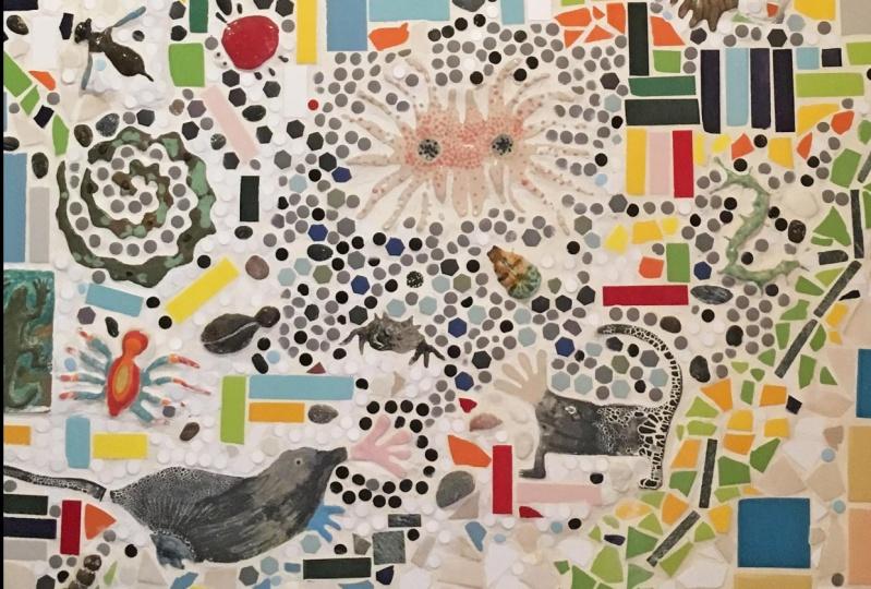 Art statement of mosaic work