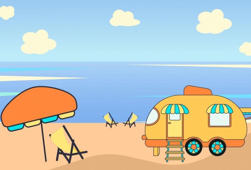 Airstream at the beach