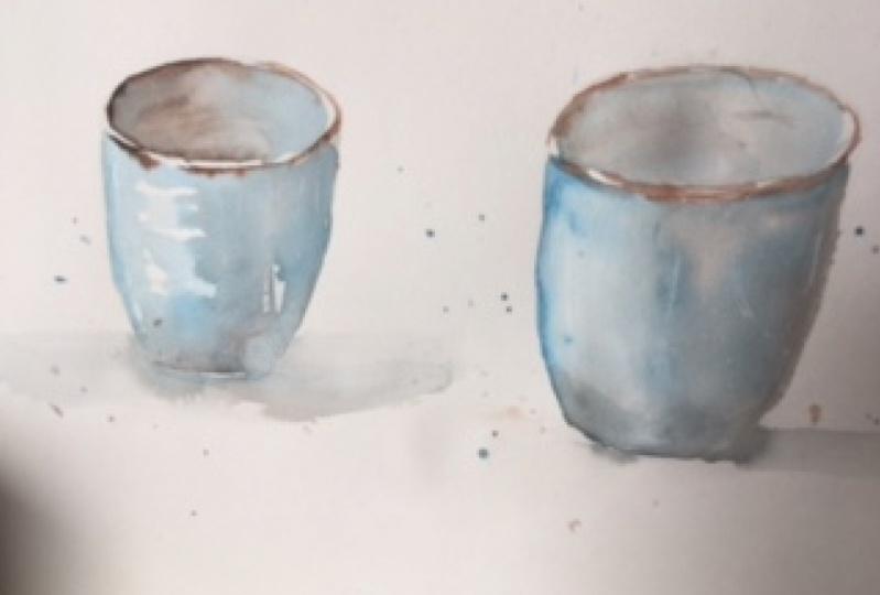 watercolor cup