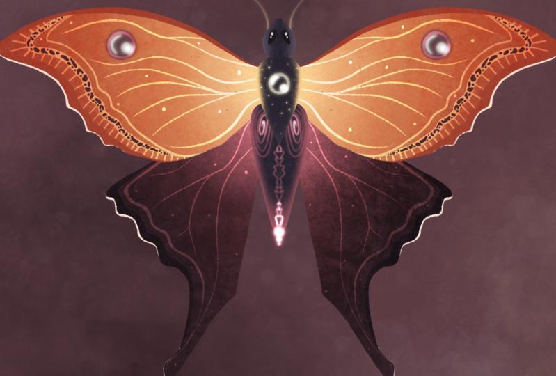 Glowing Moth