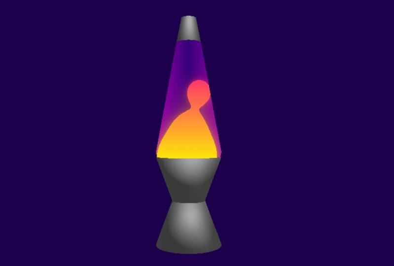 My desk lava lamp