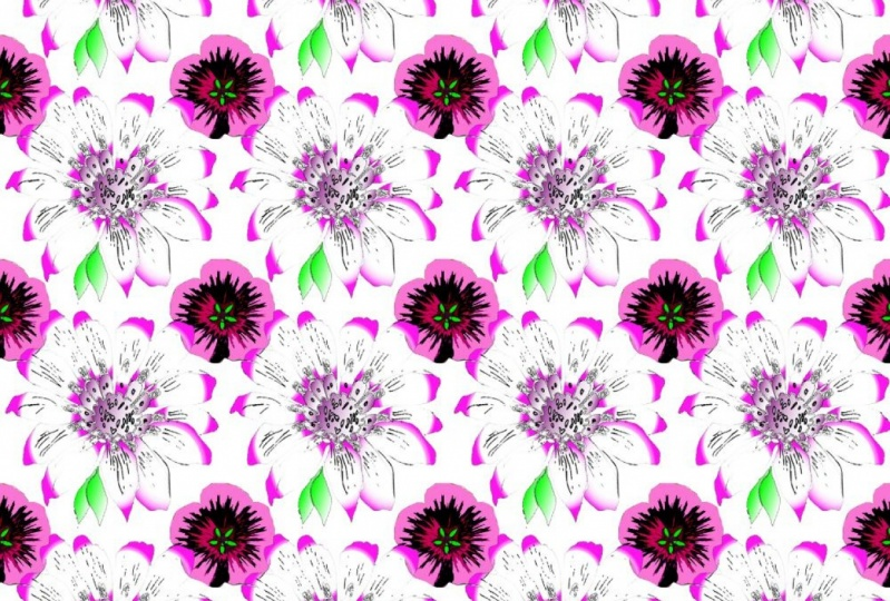 Gradient Flower Pattern