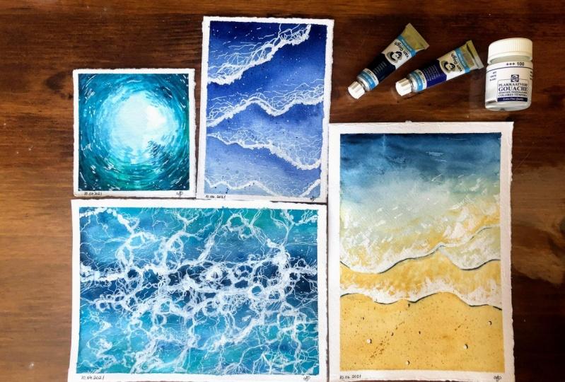Waves Watercolour