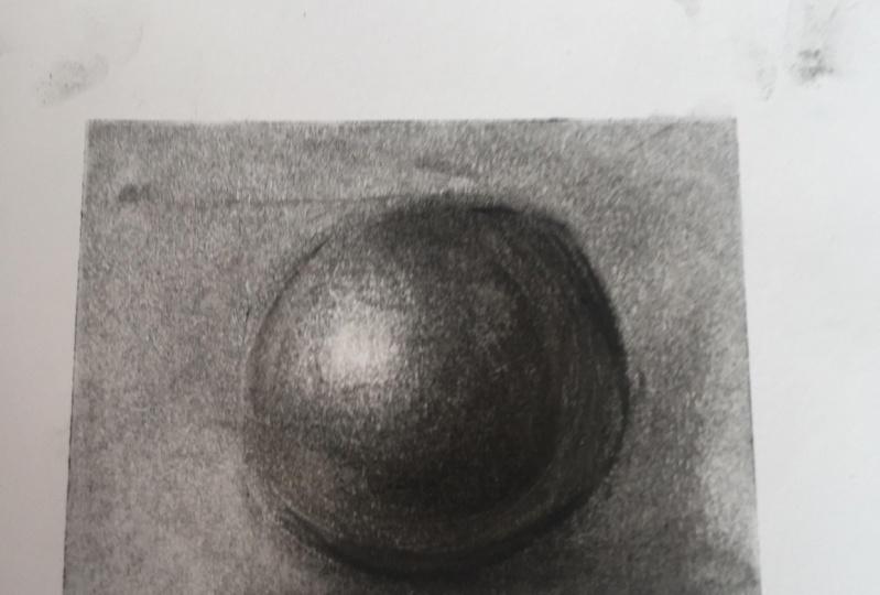 My charcoal 3D ball