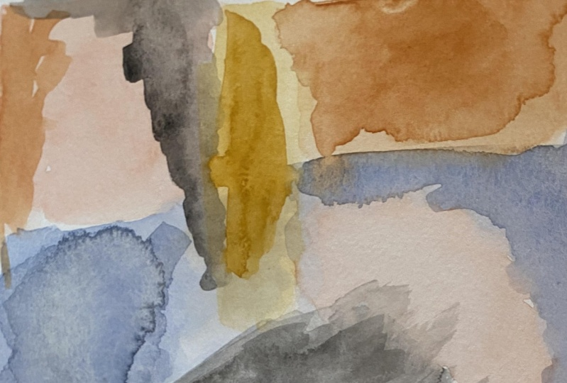 Abstract Watercolor Painting- Layers
