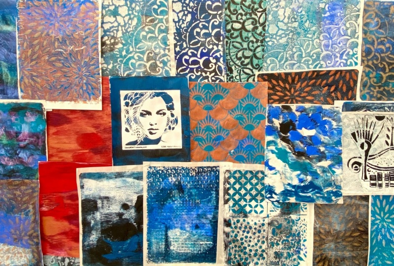 Creating Gelli Plate Prints