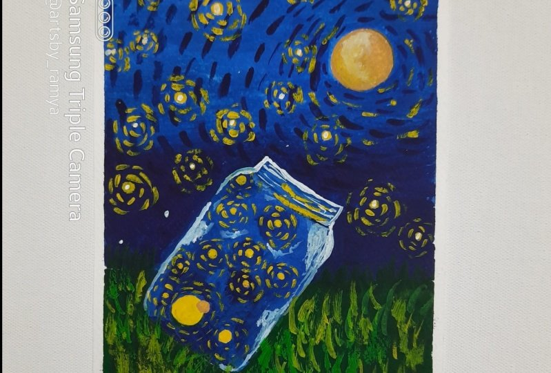 Expressive Van Gogh Style Illustrations in Gouache with Sonia