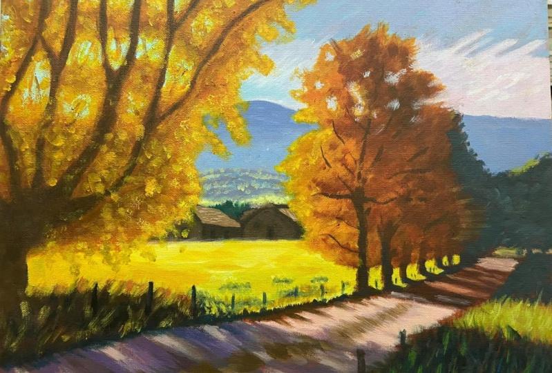 Countryside Path - Acrylic