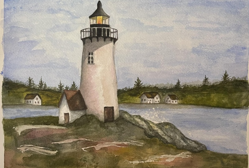 Lighthouse in Watercolor