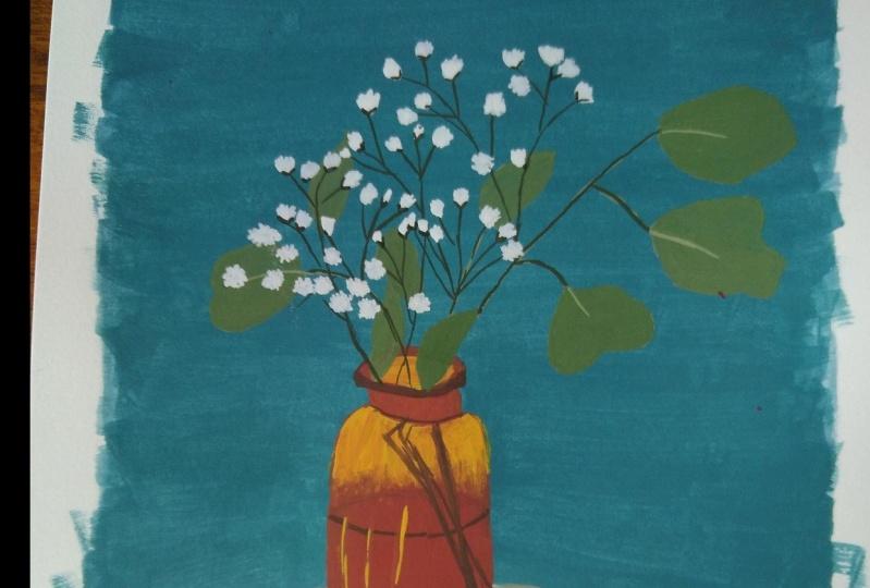 Gouache bouquets