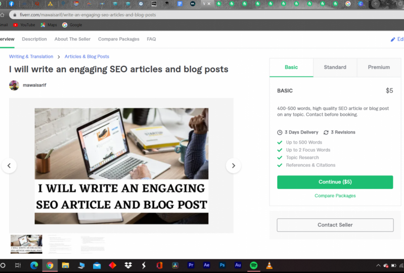 My first fiverr Gig