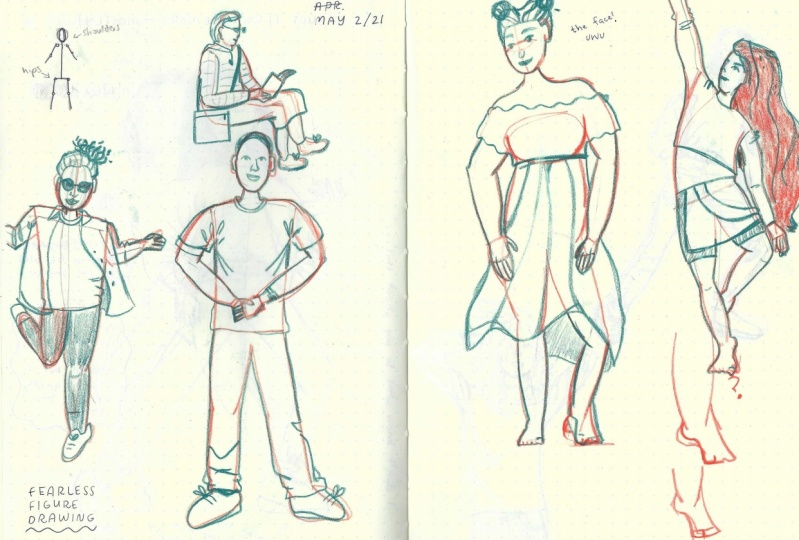 Fearless Figures - Final Sketches