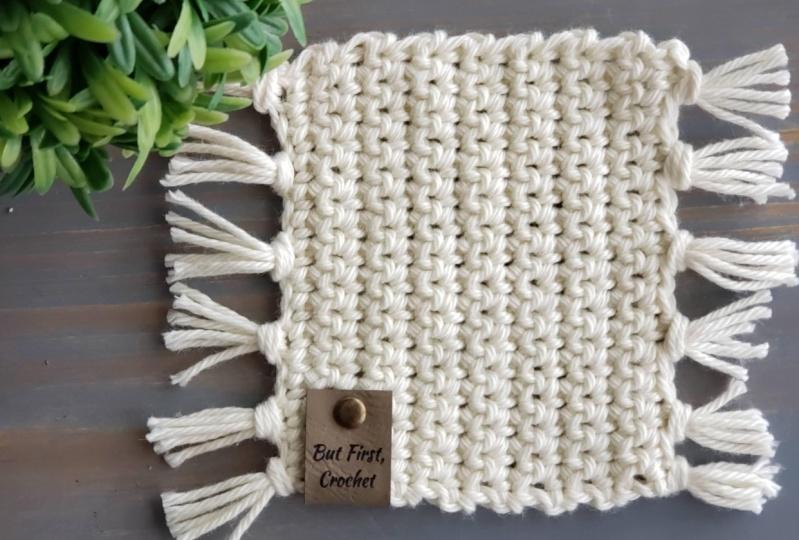 Boho Crochet Coaster