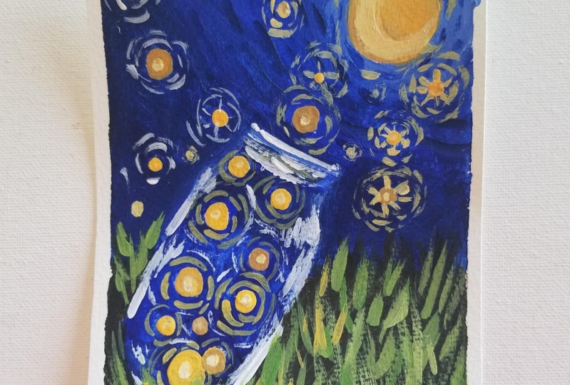 Expressive Van Gogh Style Illustrations in Gouache