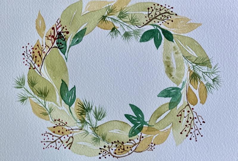 15 Minute Wreath