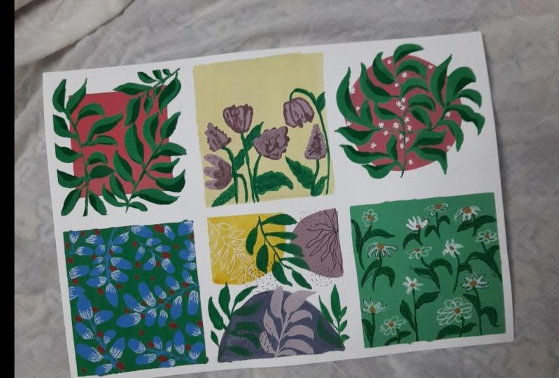 Pattern Painting in Gouache- Beginner friendly