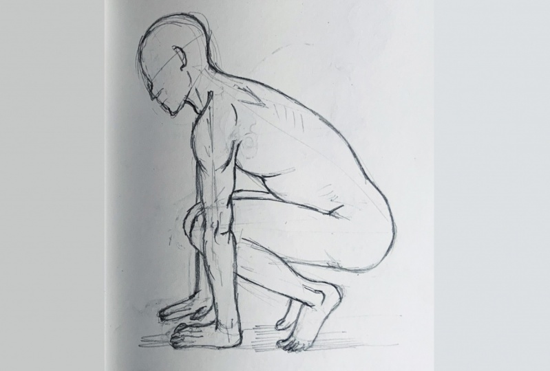 Sketches: 3 exercises- human anatomy