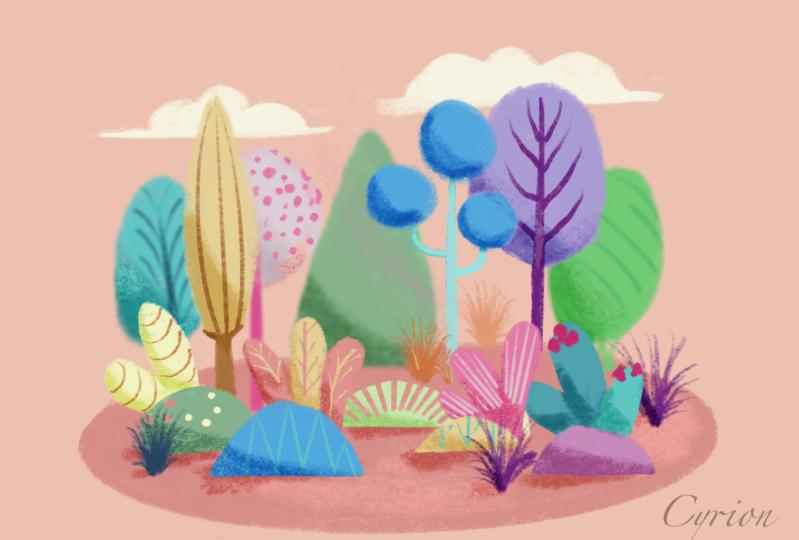Soft greenery