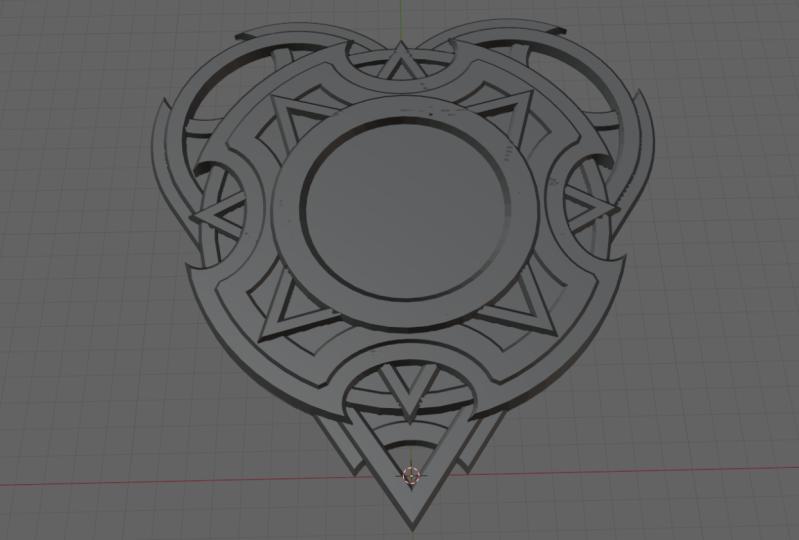 Heartshape medallion