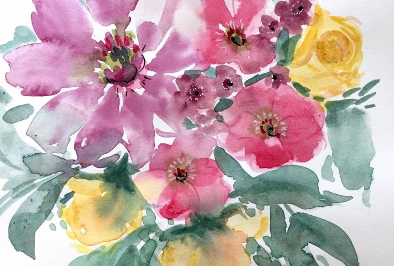 Dreamy Watercolor Florals