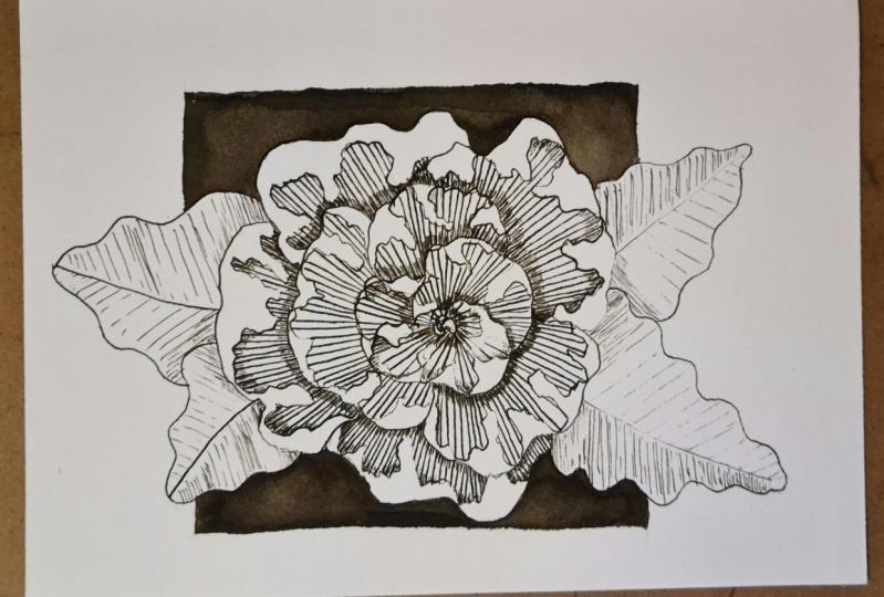 Dip-pen flower