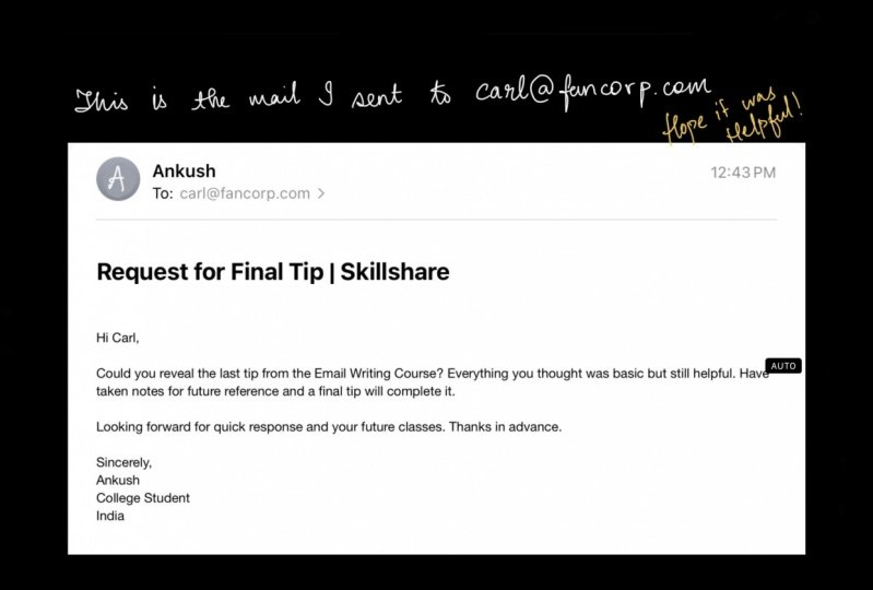 Request for Final Tip