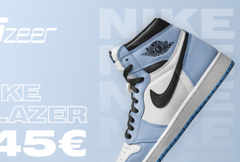 Banner for a sneaker shop in Lithuania