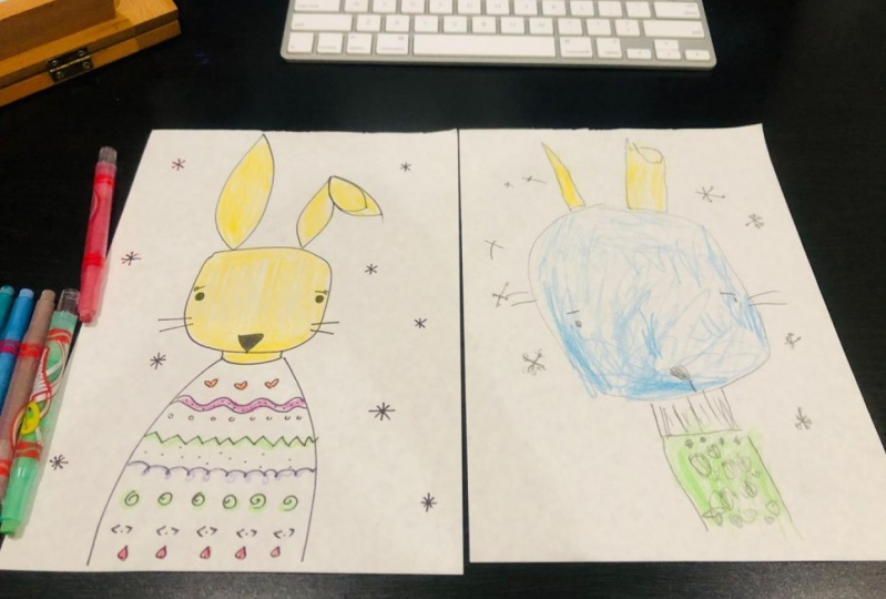 Drawing with my kids