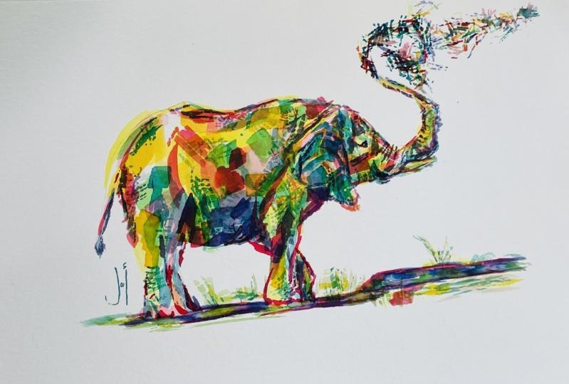 The Playful Elephant