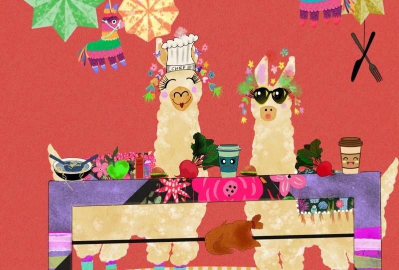 Mr and Mrs Deli llama