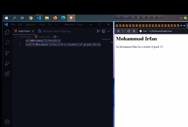 Hello world HTML5