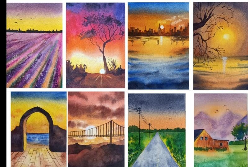 21 shades of sunset
