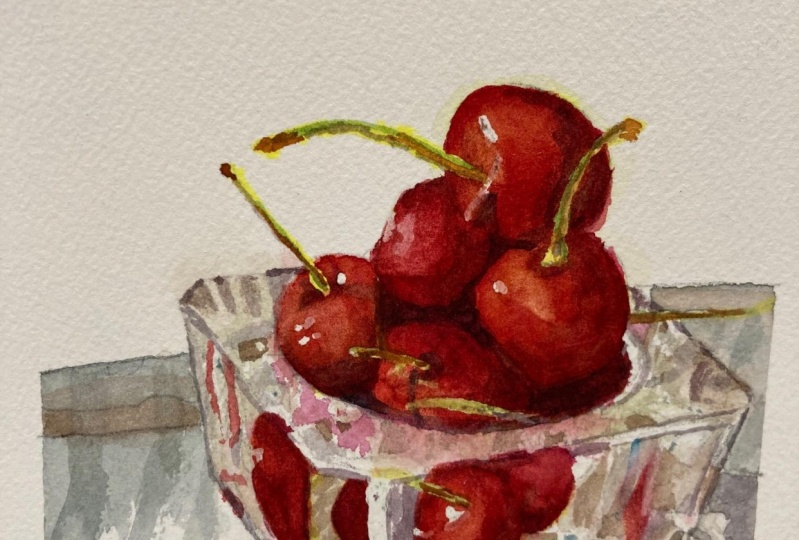 Cherries and glass - May 2021