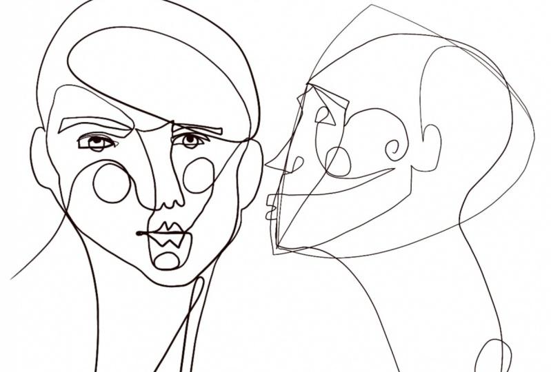 0ne line faces
