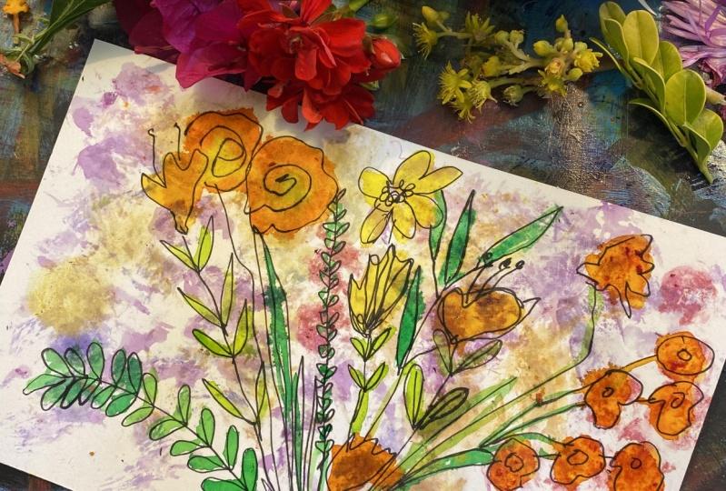 Found Flowers art