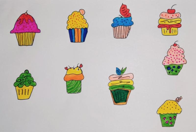 cupcakes Illustrations
