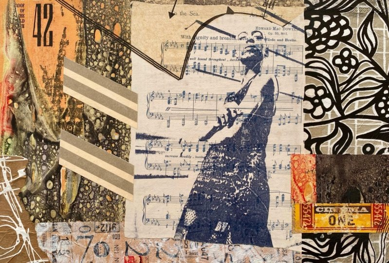 Using Image Transfers for a Collage Painting