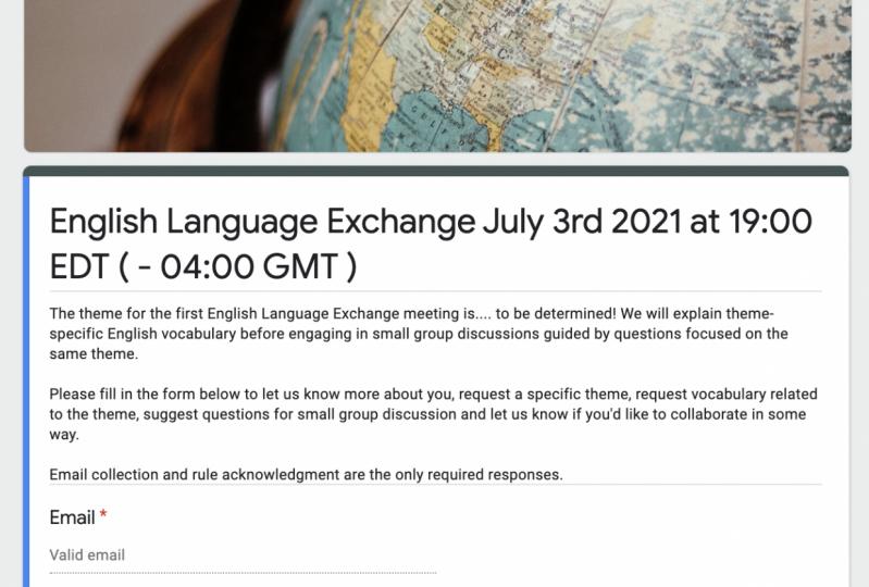 Participant Registration Survey for Customized Language Lessons