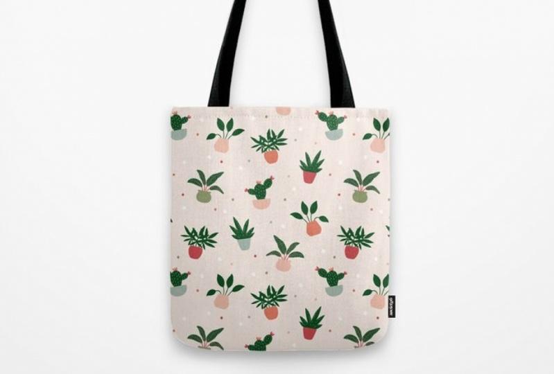 Happy Houseplants Tote Bag