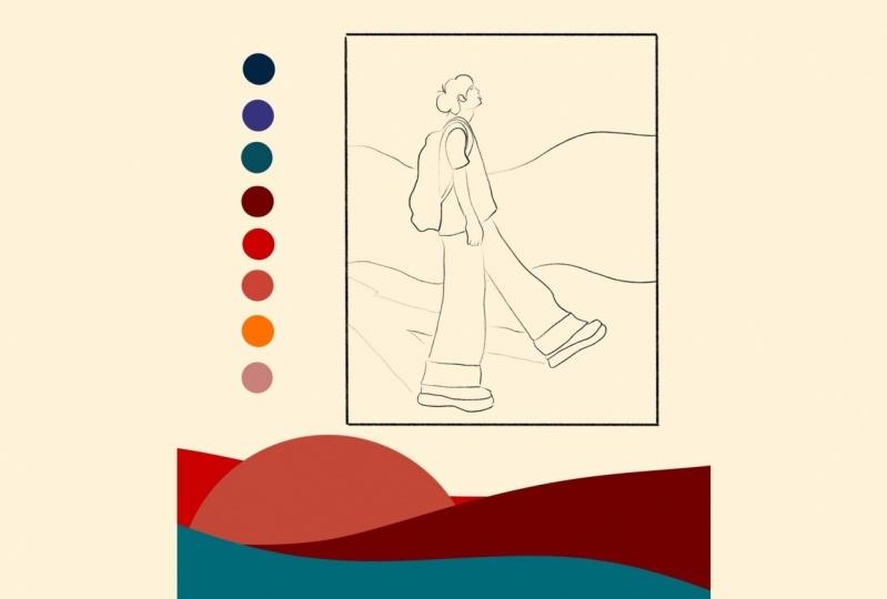 Art reaveal video of my flat illustration