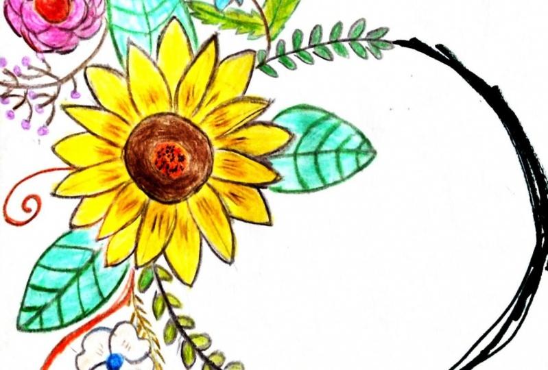 Floral wreath & frame