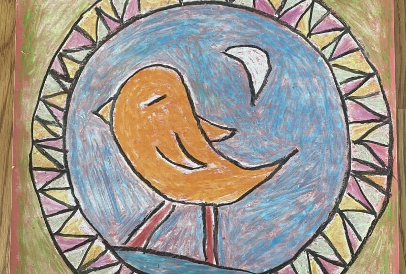 Mexican folk art bird
